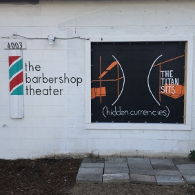 """""""The Titan Sits"""" at the Barbershop Theater in Nashville, you can learn more about the theatre here: http://thebarbershoptheater.com/"""